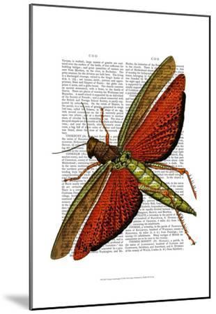 Vintage Grasshopper-Fab Funky-Mounted Art Print