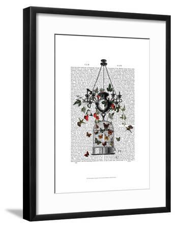 Strawberry Chandelier-Fab Funky-Framed Art Print