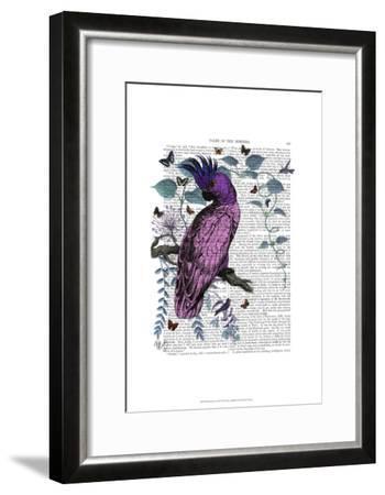 Pink Parrot-Fab Funky-Framed Art Print