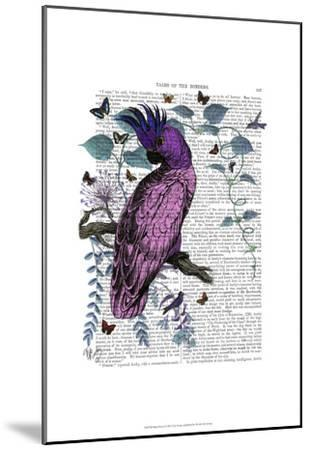 Pink Parrot-Fab Funky-Mounted Art Print