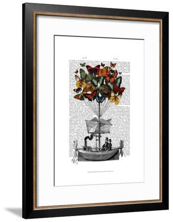 Butterfly Airship-Fab Funky-Framed Art Print