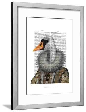 Elizabethan Swan-Fab Funky-Framed Art Print