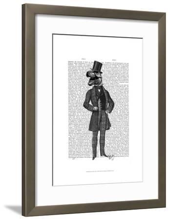 Dinosaur TRex Man 1-Fab Funky-Framed Art Print