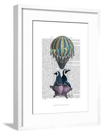 Flying Penguins-Fab Funky-Framed Art Print