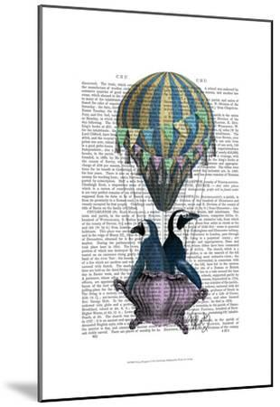 Flying Penguins-Fab Funky-Mounted Art Print