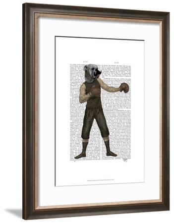 Boxing Bulldog Full-Fab Funky-Framed Art Print