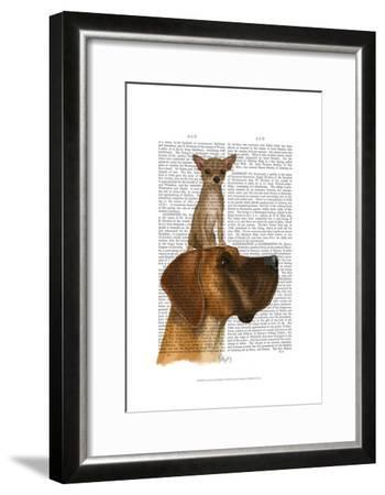 Great Dane and Chihuahua-Fab Funky-Framed Art Print
