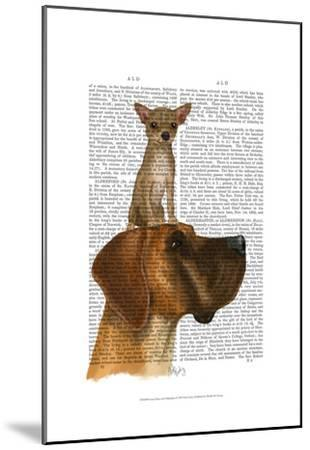 Great Dane and Chihuahua-Fab Funky-Mounted Art Print