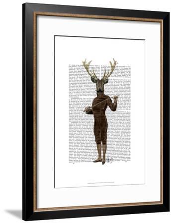 Fencing Deer Full-Fab Funky-Framed Art Print