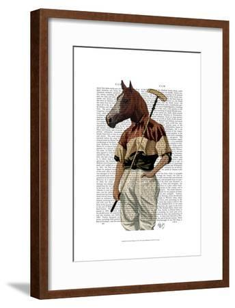 Polo Horse Portrait-Fab Funky-Framed Art Print