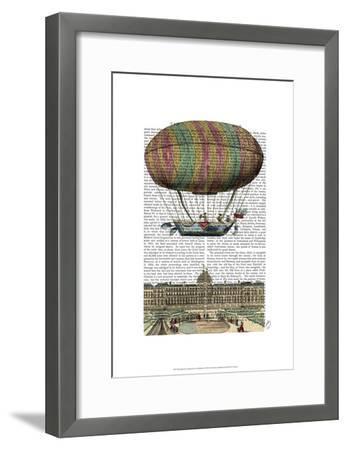Jardin De Tuileries Hot Air Balloon-Fab Funky-Framed Art Print