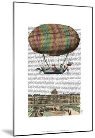 Jardin De Tuileries Hot Air Balloon-Fab Funky-Mounted Art Print