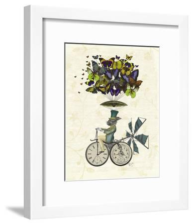 Time Flies Rabbit-Fab Funky-Framed Art Print