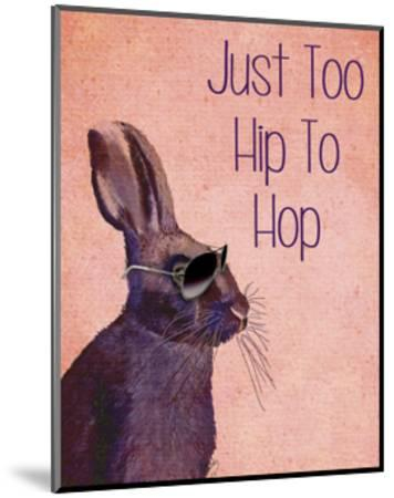 Too Hip To Hop Pink-Fab Funky-Mounted Art Print