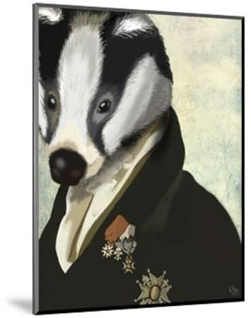 Badger The Hero-Fab Funky-Mounted Art Print