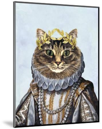 Cat Queen-Fab Funky-Mounted Art Print
