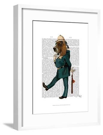 Basset Hound Policeman-Fab Funky-Framed Art Print