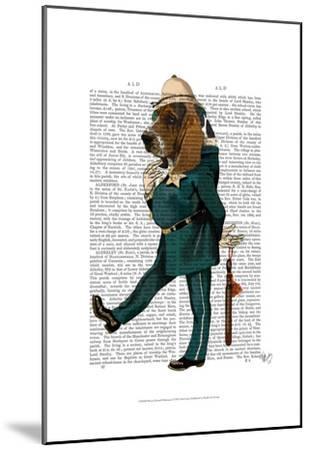 Basset Hound Policeman-Fab Funky-Mounted Art Print