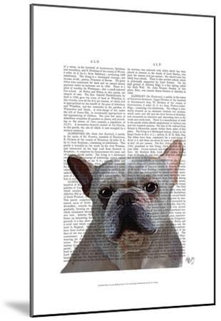 White French Bulldog Plain-Fab Funky-Mounted Art Print