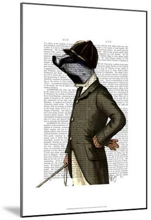 Badger The Rider Portrait-Fab Funky-Mounted Art Print