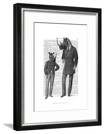 Rhinos Fathers Day-Fab Funky-Framed Art Print