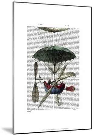 Place Du Louvre Hot Air Balloon-Fab Funky-Mounted Art Print