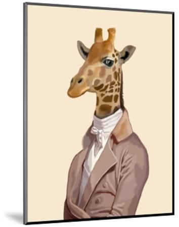 Regency Giraffe-Fab Funky-Mounted Art Print