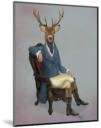 Distinguished Deer Full-Fab Funky-Mounted Art Print