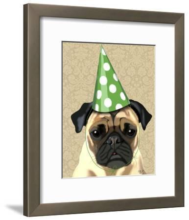 Party Pug-Fab Funky-Framed Art Print