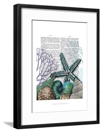 Starfish Under the Sea-Fab Funky-Framed Art Print