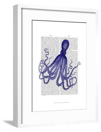 Blue Octopus 4-Fab Funky-Framed Art Print