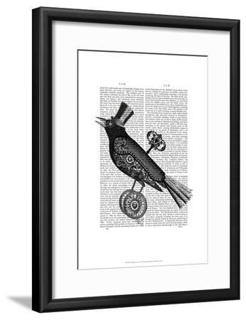 Steampunk Crow-Fab Funky-Framed Art Print