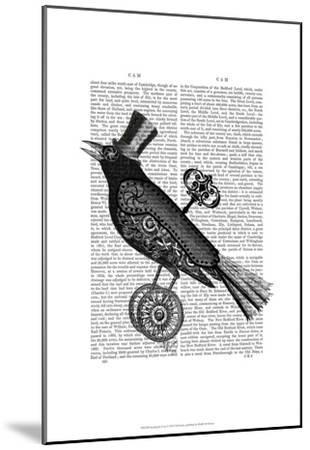 Steampunk Crow-Fab Funky-Mounted Art Print