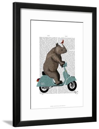 Rhino on Moped-Fab Funky-Framed Art Print