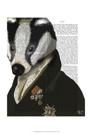 Badger the Hero-Fab Funky-Framed Art Print