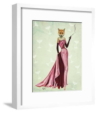 Glamour Fox in Pink-Fab Funky-Framed Art Print