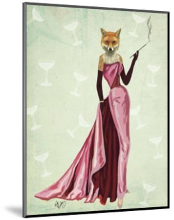 Glamour Fox in Pink-Fab Funky-Mounted Art Print