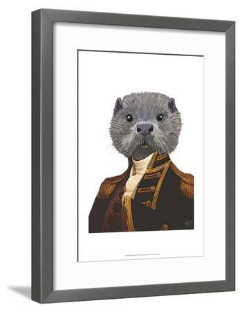 Captain Otter-Fab Funky-Framed Art Print