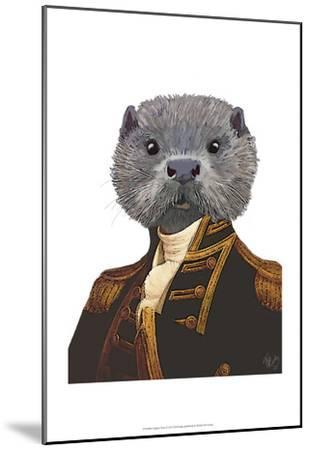 Captain Otter-Fab Funky-Mounted Art Print