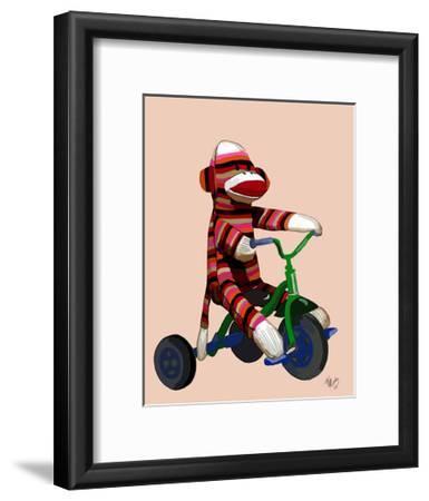 Sock Monkey Tricycle-Fab Funky-Framed Art Print