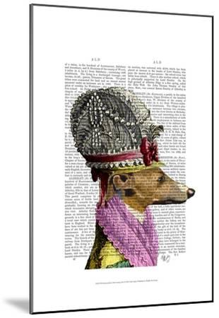 Greyhound in 16th Century Hat-Fab Funky-Mounted Art Print
