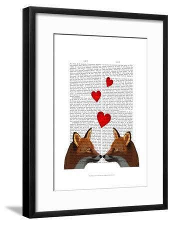 Foxes in Love-Fab Funky-Framed Art Print