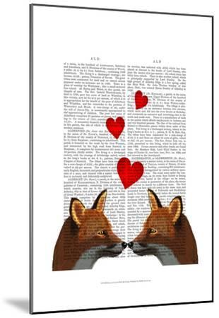 Foxes in Love-Fab Funky-Mounted Art Print
