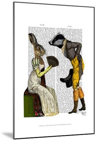 Look Of Love Regency Badger & Hare Couple-Fab Funky-Mounted Art Print