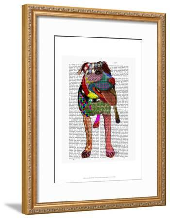 Staffordshire Bull Terrier - Patchwork-Fab Funky-Framed Art Print