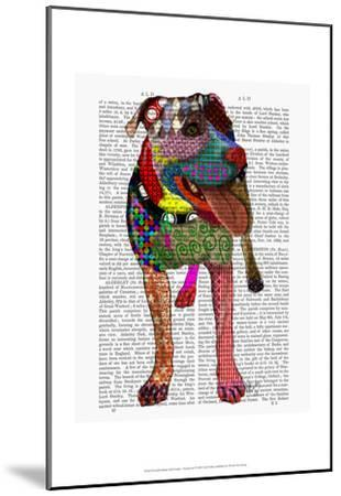 Staffordshire Bull Terrier - Patchwork-Fab Funky-Mounted Art Print