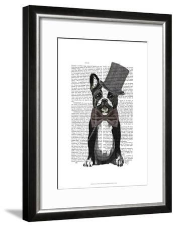 Monsieur Bulldog-Fab Funky-Framed Art Print