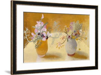 Honeysuckle and Sweet Peas-Winifred Nicholson-Framed Giclee Print