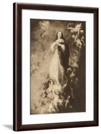 The immaculate Conception-Bartolome Esteban Murillo-Framed Giclee Print