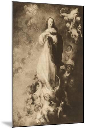 The immaculate Conception-Bartolome Esteban Murillo-Mounted Giclee Print
